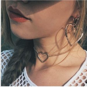 Heart Choker Necklace chain